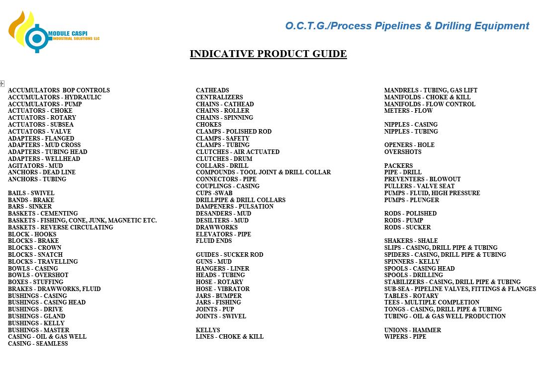 OCTG Scope - Module Caspi LLC